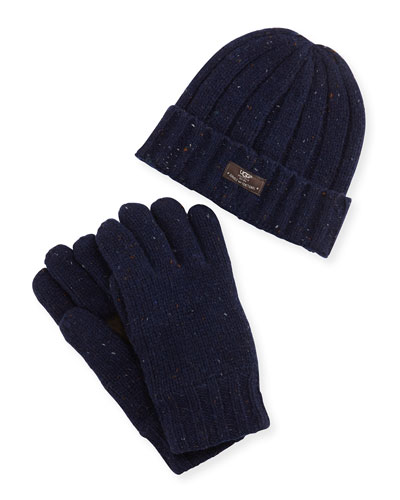uggs-for-men-hat-gloves-blue