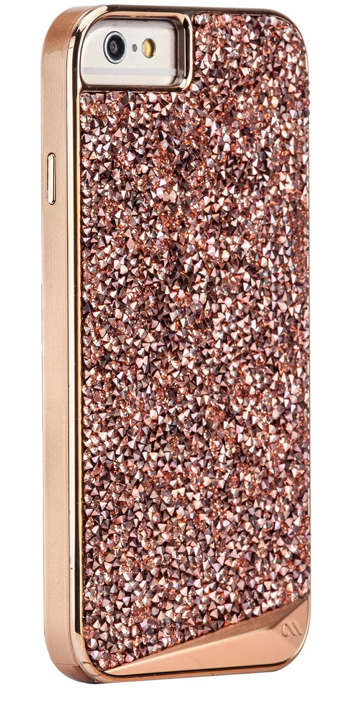 iphone 6 or 6S case in Rose Gold Glitter Gift 2016